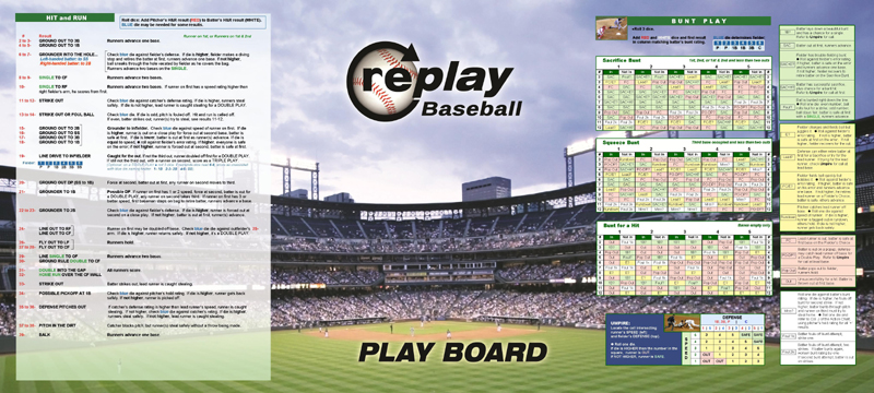 Replay Baseball Board Game Accessories